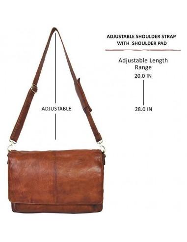 LEATHER MESSENGER BAG FOR MEN & WOMEN