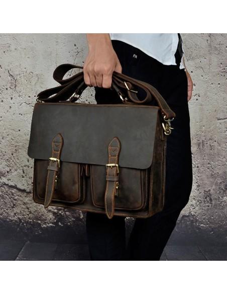 Handmade RawHide Vintage Leather Duffle Bag Weekender Travel Gym Bag
