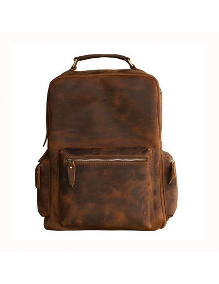 Genuine Leather Tablet Sling Satchel Bag
